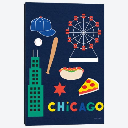 City Fun Chicago Canvas Print #NKL11} by Ann Kelle Canvas Artwork