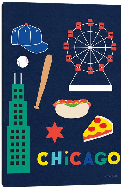 City Fun Chicago Canvas Art Print