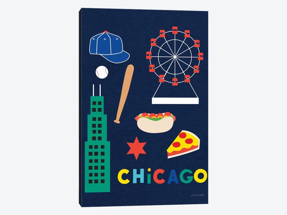 City Fun Chicago by Ann Kelle 1-piece Canvas Art