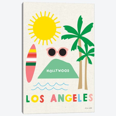 City Fun Los Angeles Canvas Print #NKL12} by Ann Kelle Canvas Wall Art