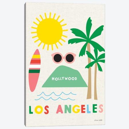 City Fun Los Angeles Canvas Print #NKL12} by Ann Kelle Canvas Wall Art