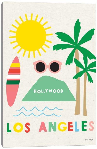 City Fun Los Angeles Canvas Art Print