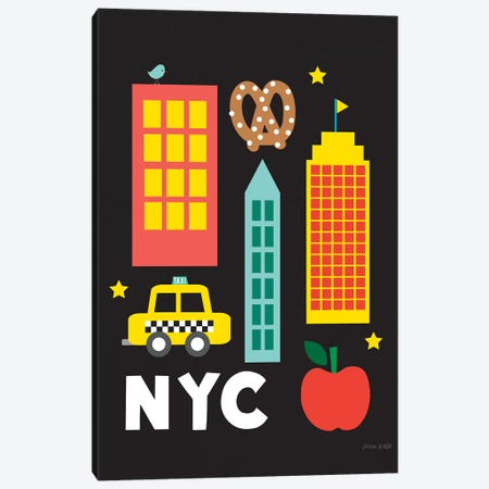City Fun NYC Canvas Print #NKL13} by Ann Kelle Canvas Art