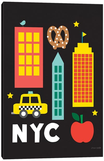 City Fun NYC Canvas Art Print