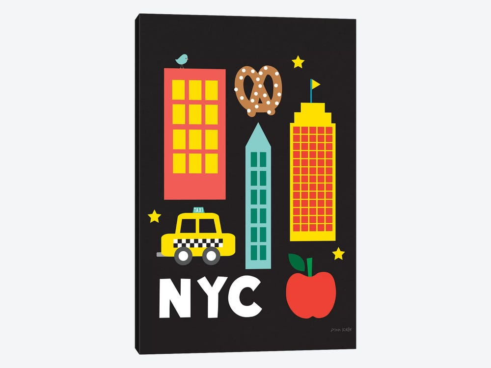 City Fun NYC by Ann Kelle 1-piece Canvas Art