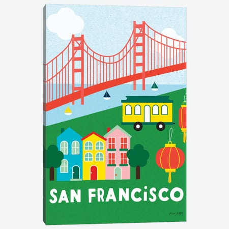 City Fun San Francisco Canvas Print #NKL14} by Ann Kelle Art Print