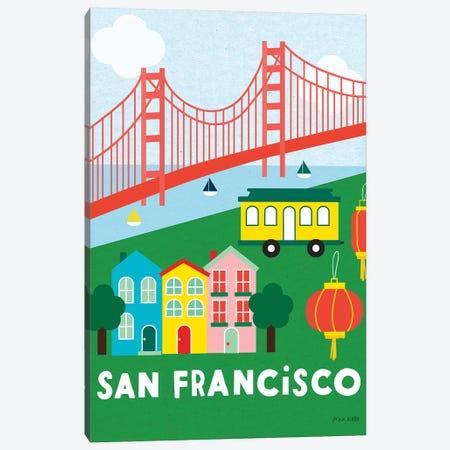 City Fun San Francisco Canvas Print #NKL14} by Ann Kelle Art Print