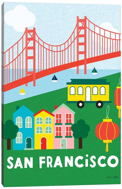 City Fun San Francisco Canvas Art Print