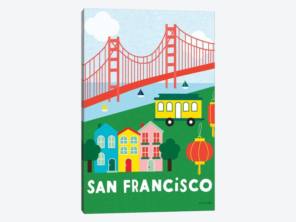 City Fun San Francisco by Ann Kelle 1-piece Art Print