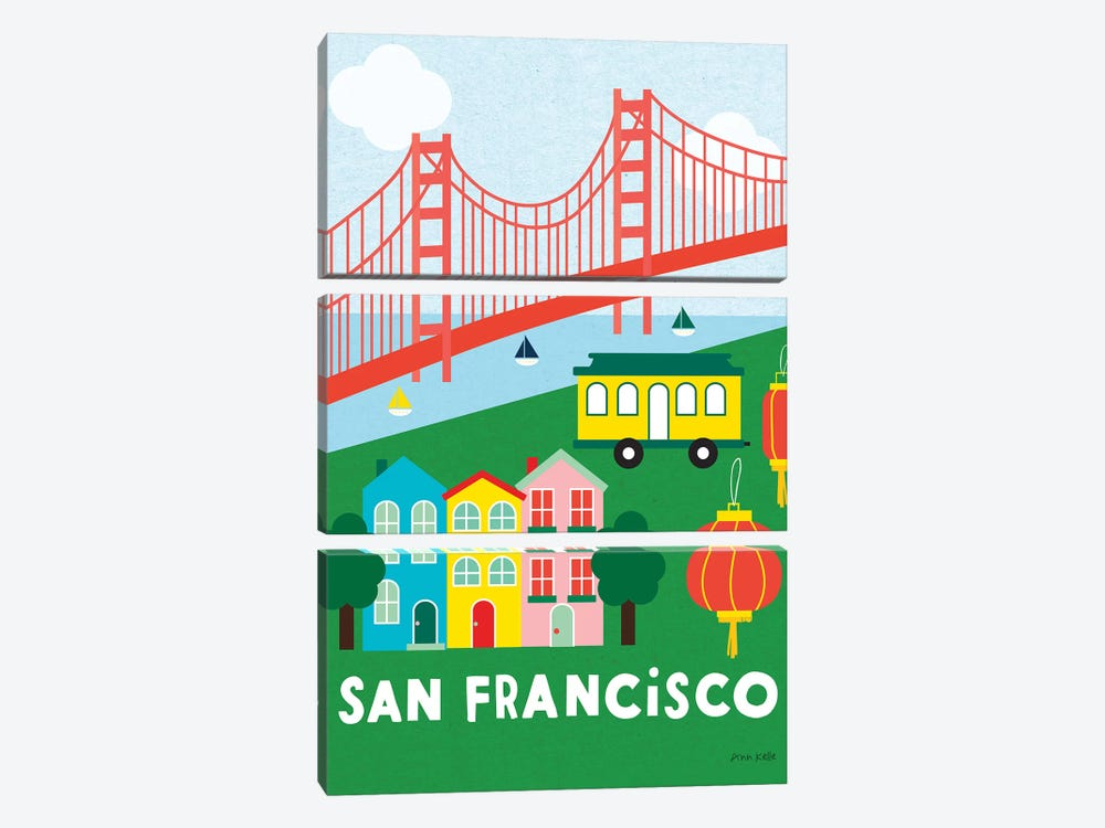 City Fun San Francisco by Ann Kelle 3-piece Art Print