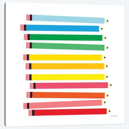 Colored Pencils Canvas Print #NKL17} by Ann Kelle Canvas Print