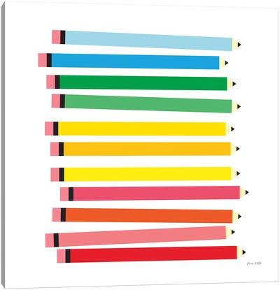 Colored Pencils Canvas Art Print