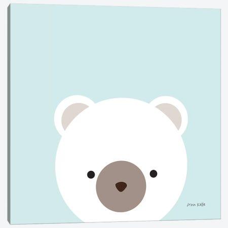 Cuddly Bear Canvas Print #NKL18} by Ann Kelle Canvas Artwork