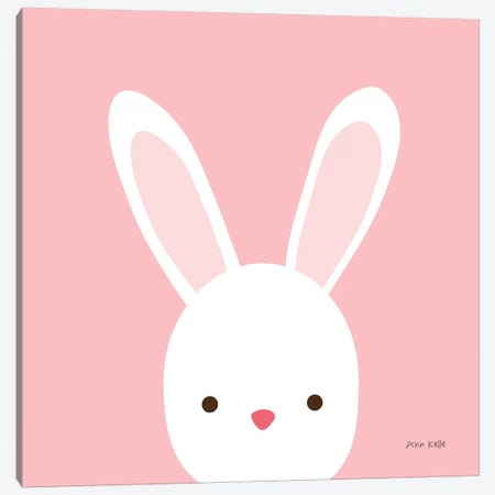 Cuddly Bunny Canvas Print #NKL19} by Ann Kelle Canvas Wall Art