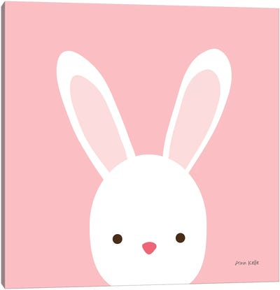 Cuddly Bunny Canvas Art Print