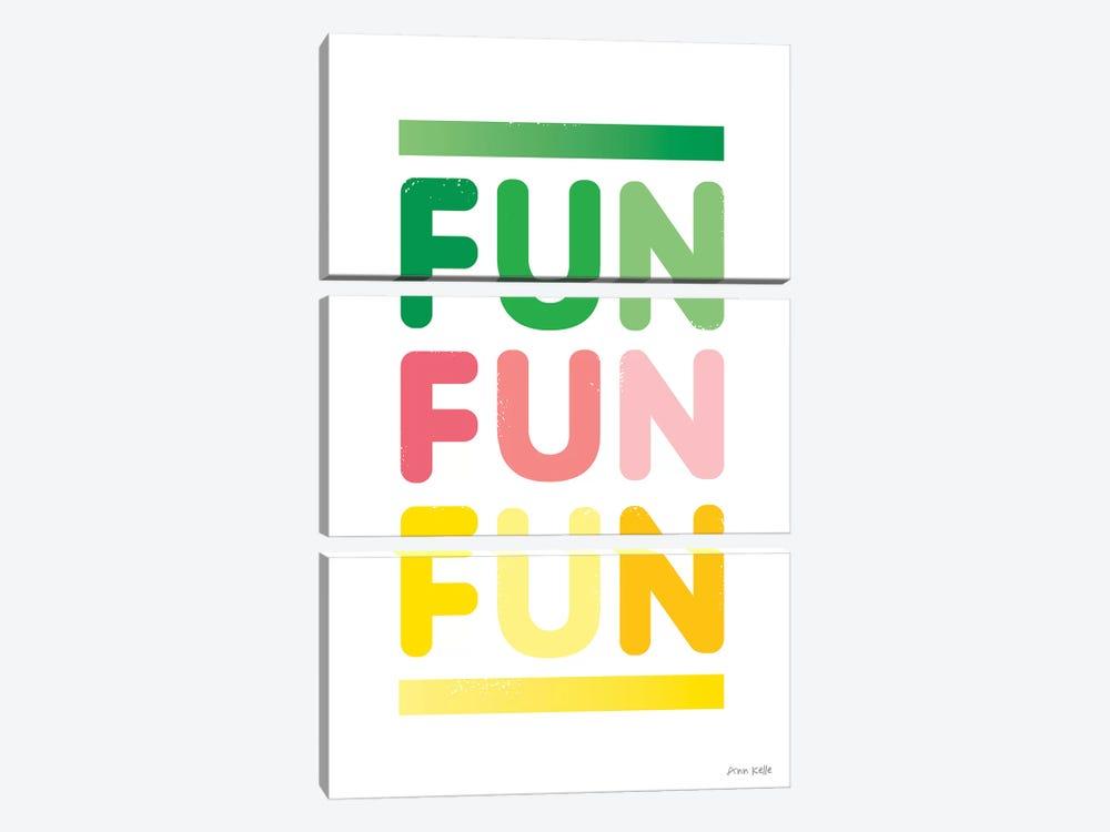 Fun by Ann Kelle 3-piece Canvas Print