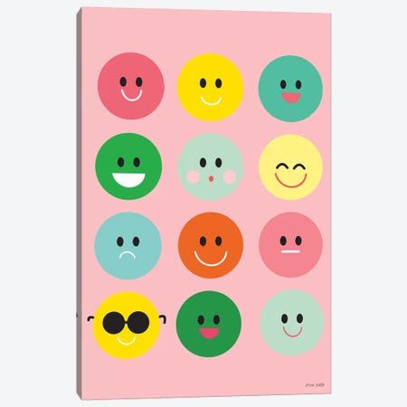 Happy Circles Canvas Print #NKL29} by Ann Kelle Art Print