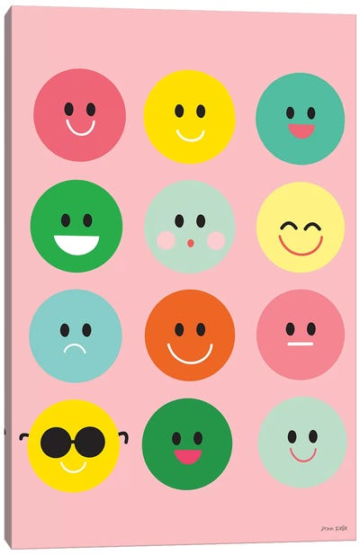 Happy Circles Canvas Art Print