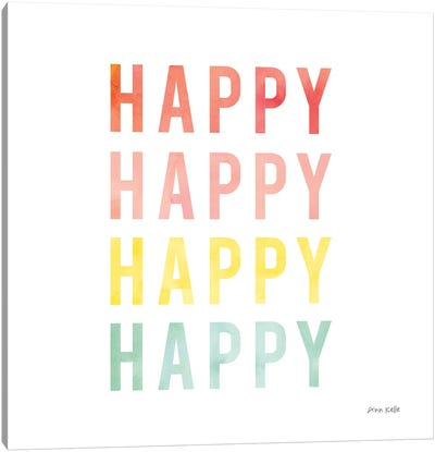 Happy Happy Canvas Art Print