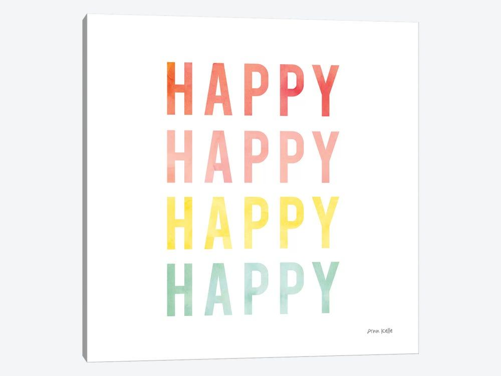 Happy Happy by Ann Kelle 1-piece Canvas Print