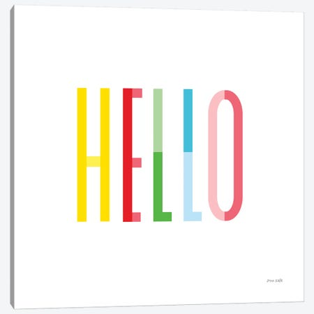 Hello Canvas Print #NKL33} by Ann Kelle Canvas Artwork