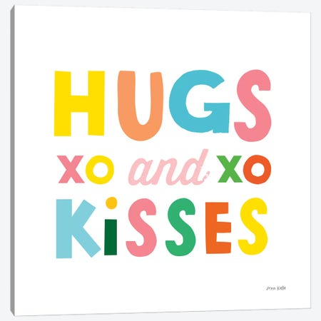 Hugs and Kisses Canvas Print #NKL36} by Ann Kelle Canvas Art Print