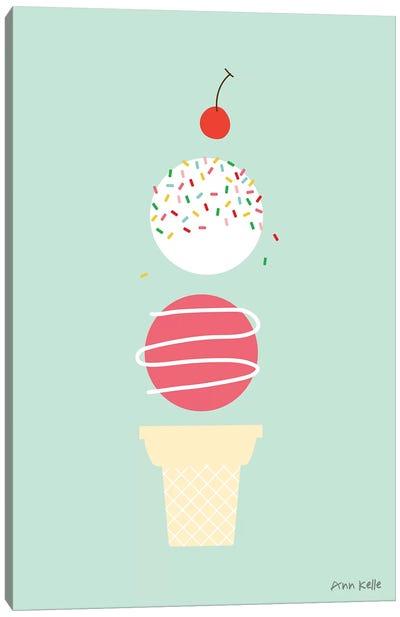Ice Cream and Cherry I Canvas Art Print