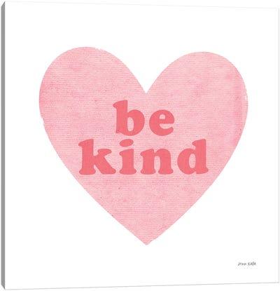 Be Kind Heart Canvas Art Print
