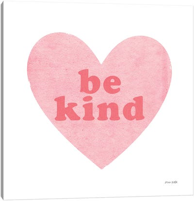 Be Kind Heart Canvas Art Print