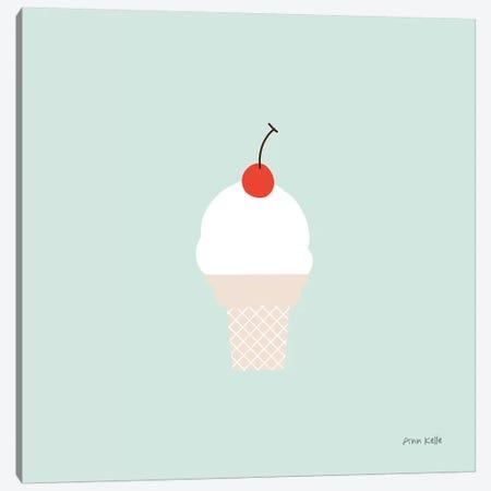 Ice Cream Cone II Canvas Print #NKL40} by Ann Kelle Canvas Print