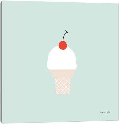 Ice Cream Cone II Canvas Art Print