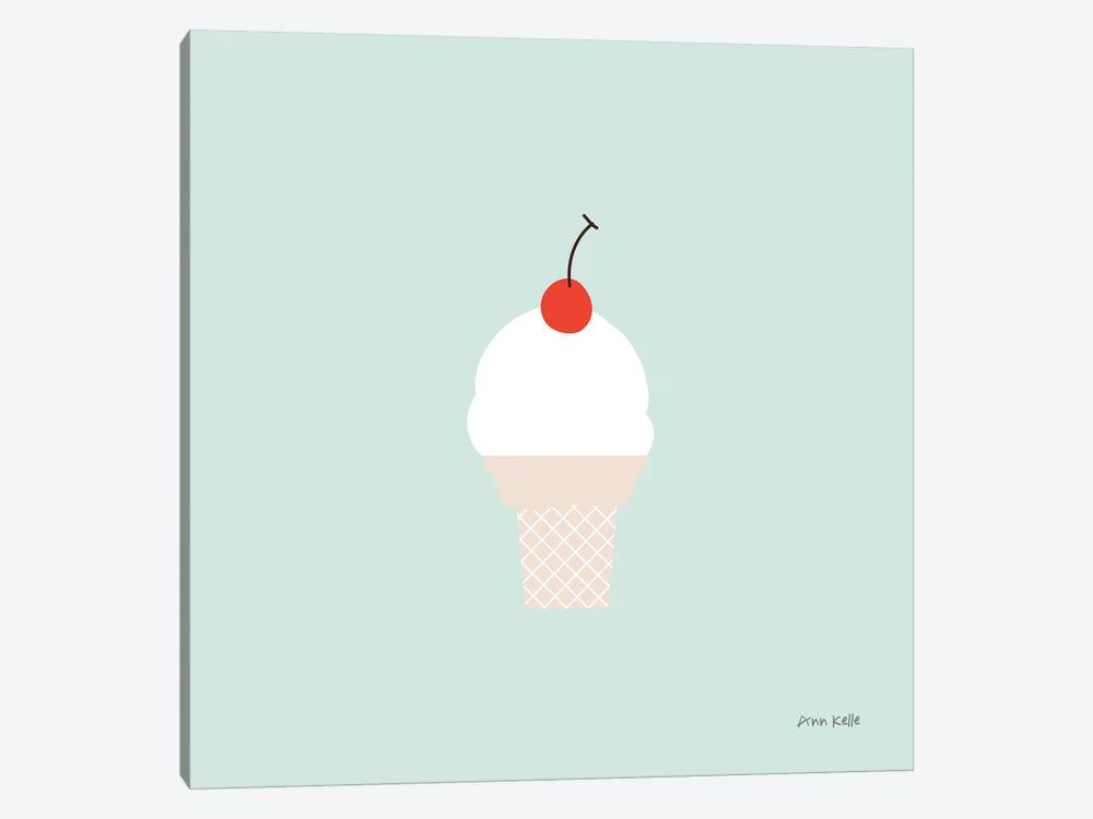 Ice Cream Cone II by Ann Kelle 1-piece Canvas Wall Art