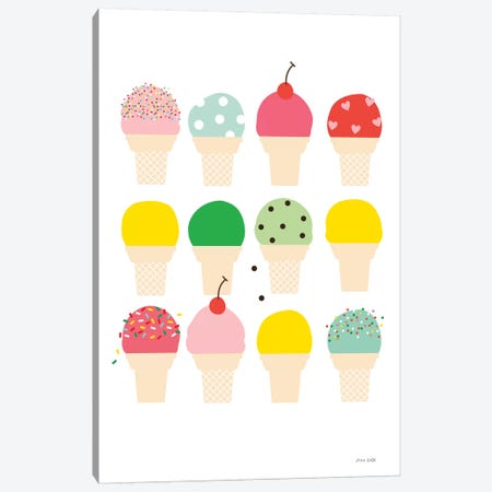 Ice Cream Fun Canvas Print #NKL41} by Ann Kelle Canvas Art Print