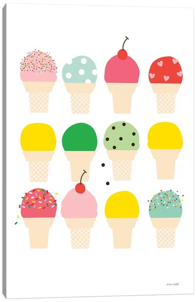 Ice Cream Fun Canvas Art Print