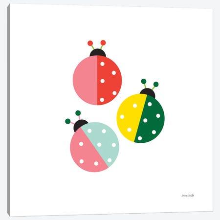 Ladybugs Three Canvas Print #NKL42} by Ann Kelle Canvas Art Print
