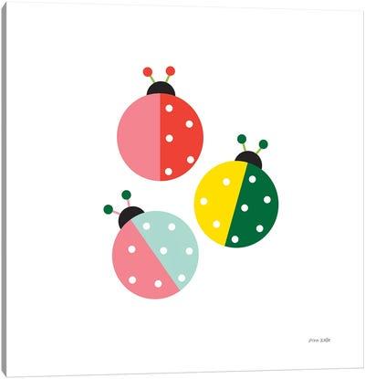 Ladybugs Three Canvas Art Print