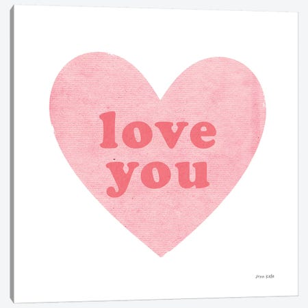 Love Heart Canvas Print #NKL46} by Ann Kelle Canvas Artwork
