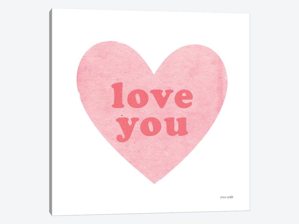 Love Heart by Ann Kelle 1-piece Canvas Art