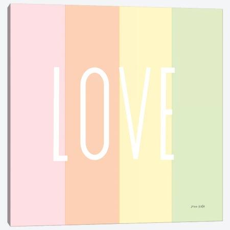 Love Rainbow Canvas Print #NKL47} by Ann Kelle Canvas Artwork