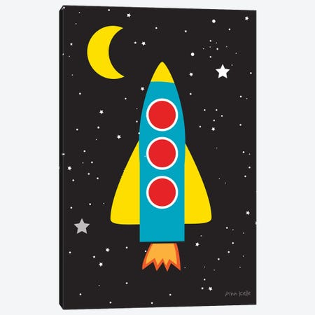 Blast Off Canvas Print #NKL4} by Ann Kelle Canvas Art