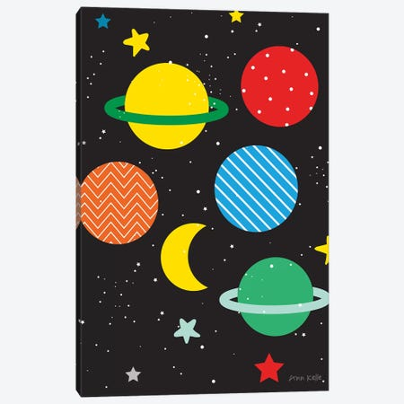 Outer Space Canvas Print #NKL53} by Ann Kelle Canvas Artwork