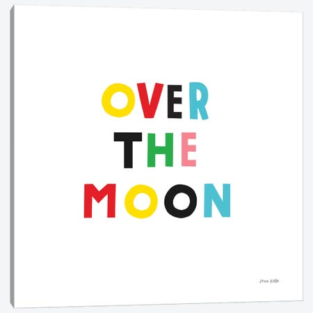 Over the Moon Canvas Print #NKL54} by Ann Kelle Art Print