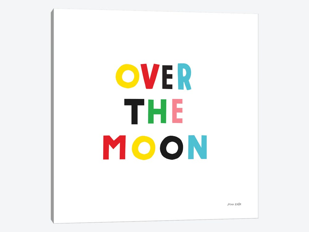 Over the Moon by Ann Kelle 1-piece Art Print