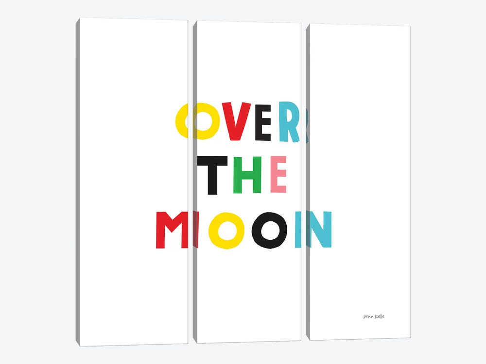 Over the Moon by Ann Kelle 3-piece Canvas Print