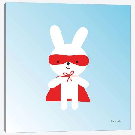 Rabbit Super Hero Canvas Print #NKL60} by Ann Kelle Canvas Print
