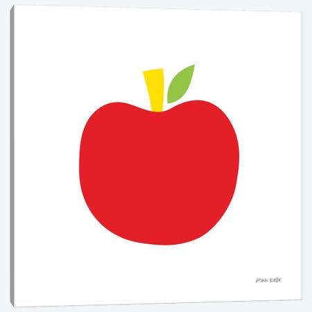 Red Apple Canvas Print #NKL67} by Ann Kelle Canvas Artwork