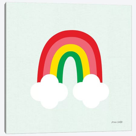 Bright Rainbow I Canvas Print #NKL6} by Ann Kelle Canvas Wall Art