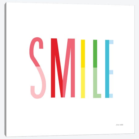 Smile Canvas Print #NKL71} by Ann Kelle Canvas Art