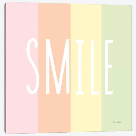 Smile Rainbow Canvas Print #NKL72} by Ann Kelle Canvas Artwork