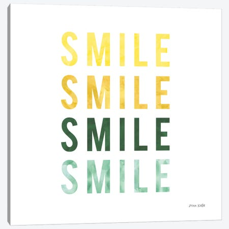 Smile Smile Canvas Print #NKL73} by Ann Kelle Canvas Art